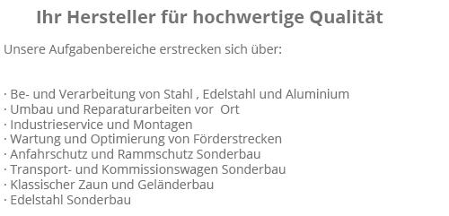 Schlosserei in  Stepenitztal, Bernstorf, Grevesmühlen, Damshagen, Roggenstorf, Grieben, Menzendorf und Dassow, Warnow, Roduchelstorf
